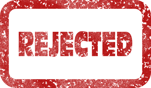 rejected stamp